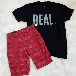 Other - NEW Red print shorts